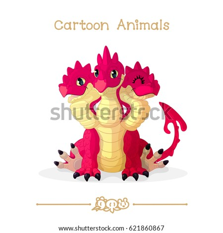 Three Headed Dragon Stock Images, Royalty-Free Images ...Three Headed Animal Drawing