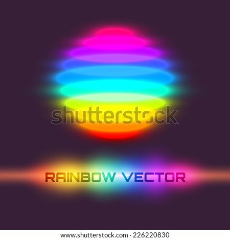 Vector illustration. Colorful rainbow sphere. - stock vector