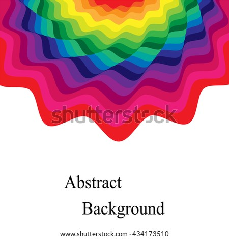 Vector Illustration.Colorful Waves. Template for Visiting Cards, Labels, Fliers, Banners, Badges, Posters, Stickers and Advertising Actions.Geometric Abstract Background - stock vector
