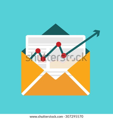 Vector illustration concept of distributed news publication via e-mail , email marketing concept illustration - stock vector