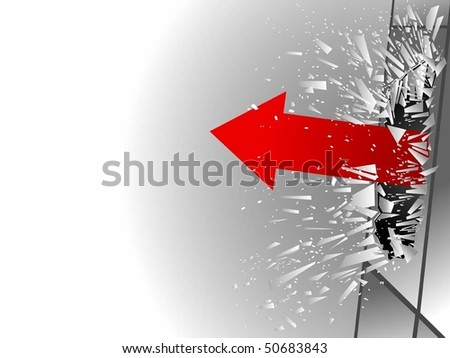 vector illustration: concept of success - stock vector