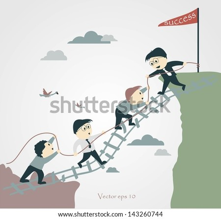 Vector Illustration - Cooperation Concept - stock vector