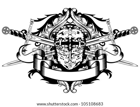 Knights templar stock images royalty free images for Crossed swords tattoo