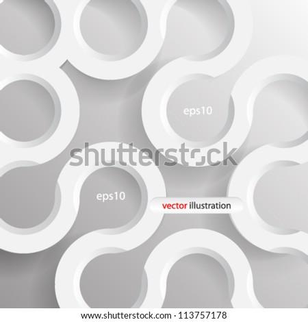 Vector illustration 3d geometrical seamless concept design - eps10 - stock vector