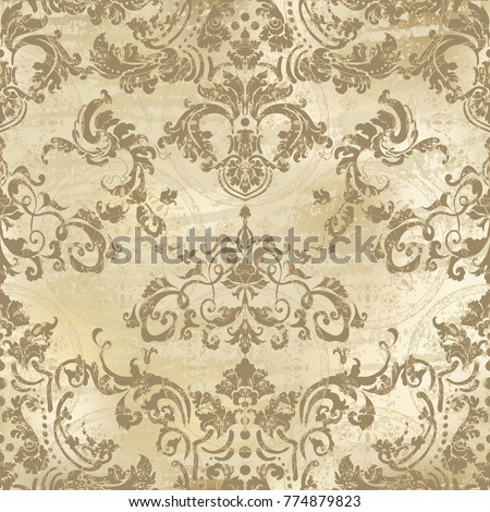 Vector illustration. Damask seamless flowers pattern.