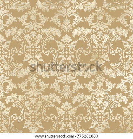 Vector illustration. Damask seamless flowers pattern. Baroque Classicism.