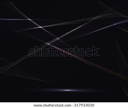 vector illustration dark background with an abstract spiderweb