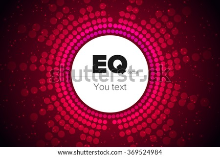 Vector illustration digital fire red equalizer as circle for radio, party, club, studio, dance, disco music. Colorful image sound wave in futuristic display - stock vector