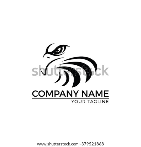 Vector Illustration : Eagle Logo,Vector Logo Template - stock vector