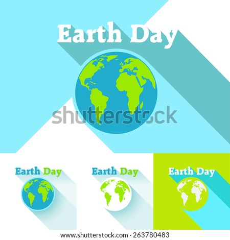 Vector illustration. Earth Day. Logo on a white background. ECO.