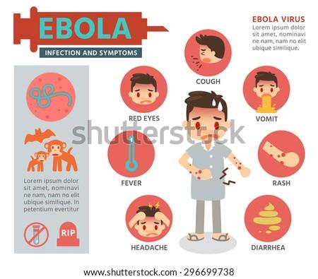 Vector Illustration. Ebola Virus Info graphics. - stock vector
