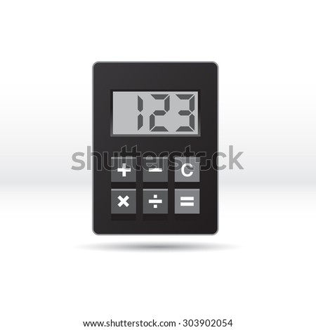Vector illustration electronic calculator.