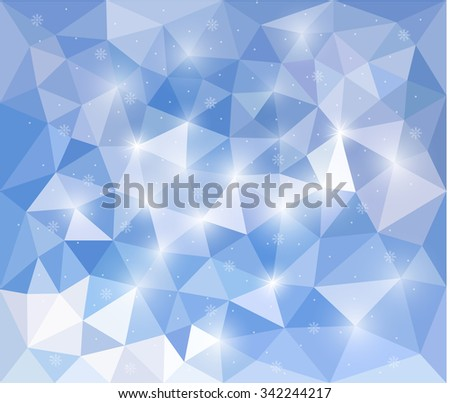 Vector illustration EPS 10. Abstract background for design. Polygonal Mosaic. Triangular low poly style. Template for poster.