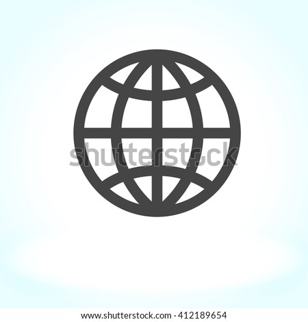 Vector illustration. EPS 10. Globe icon, world icon , global icon - stock vector