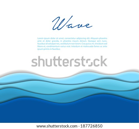Vector illustration (eps 10) of Abstract waves background - stock vector