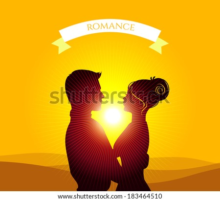 Vector illustration (eps 10) of Kissing couple - stock vector