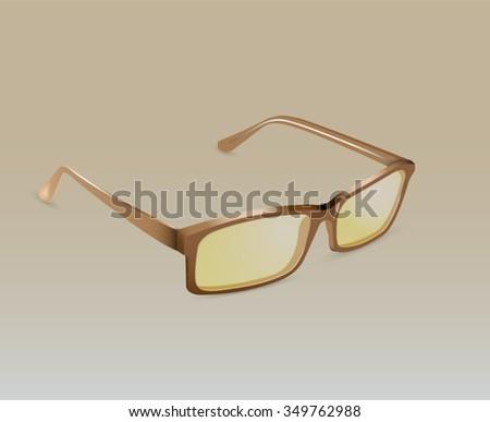 Vector illustration. Eye Glasses - stock vector