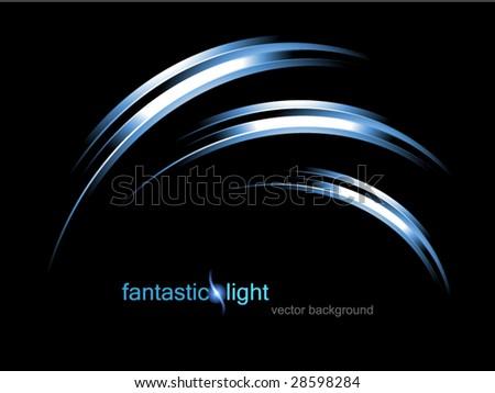 vector illustration fantastic light - stock vector