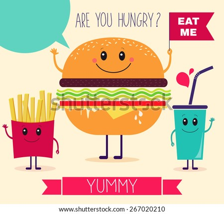 Vector illustration. Fast food - stock vector
