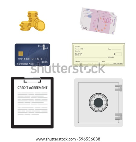 Vector Illustration Credit Contract Agreement Document Stock