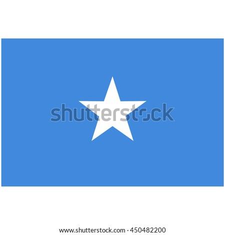 Vector illustration flag of Somalia icon. Rectangle national flag of Somalia. Somalia flag button - stock vector