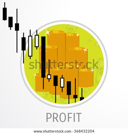 Vector illustration. Flat background. Market trade. Trading platform and account. Moneymaking,business. Market analysis. Investing. - stock vector