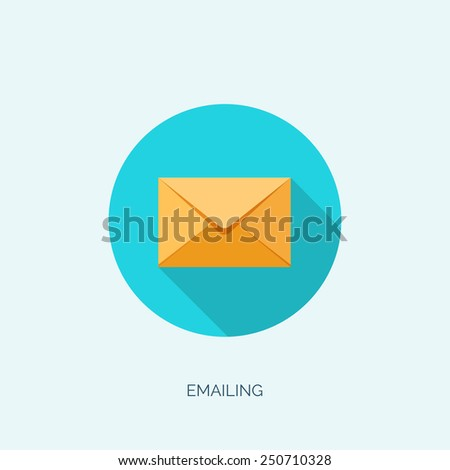 Vector illustration. Flat background with letter. Emailing concept background. Spam and sms writing.Lettering. - stock vector