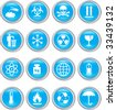 Vector illustration for blue icons isolated on a white background - stock vector