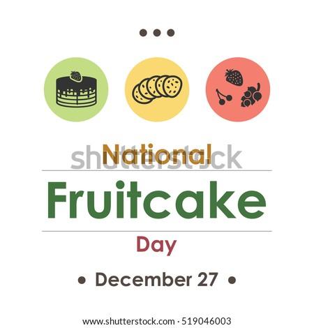 vector illustration for fruitcake day in december