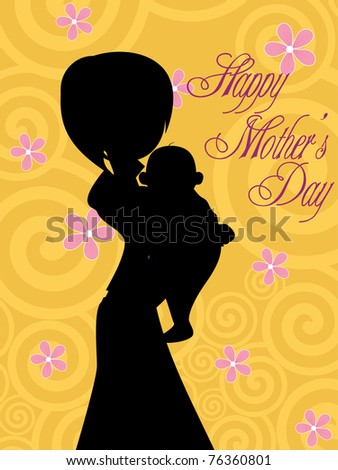 vector illustration for happy mother's day celebration