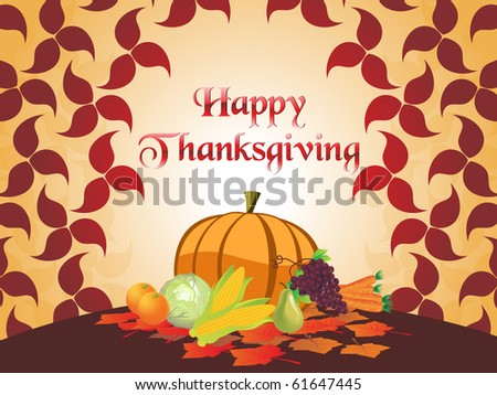 vector illustration for happy thanksgiving day