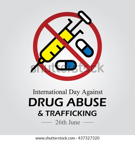 Vector illustration for International Day against Drug Abuse.