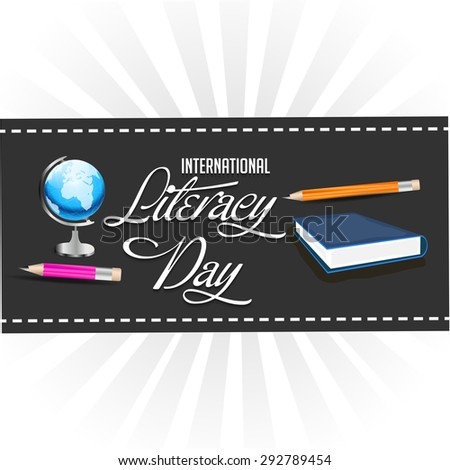 Vector illustration for International Literacy Day.