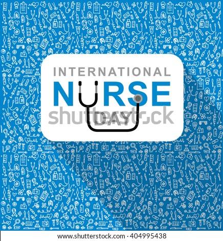 Vector illustration for International Nurse Day. Vector illustration for Nurse Day. Poster Nurse Day Nurse Day Nurse Day - stock vector