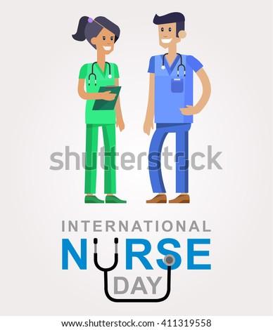 Vector illustration for International Nurse Day. Vector illustration for Nurse Day. Poster Nurse Day Vector illustration for International Nurse Day. Nurse Day. Poster Nurse Day - stock vector