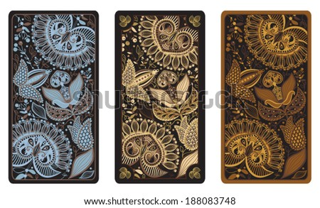 Vector illustration for Tarot cards - stock vector
