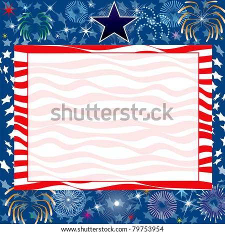 Vector Illustration for the 4th of July Independence or New Years background.