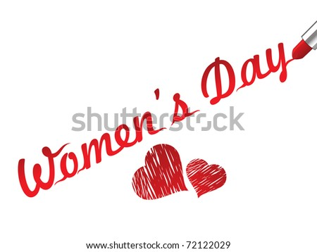 vector illustration for women's day celebration - stock vector
