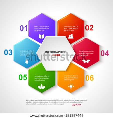 Vector illustration for your business presentations. Modern Design template / can be used for infographics / numbered banners  / graphic or website layout vector. EPS10. - stock vector