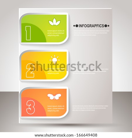 Vector illustration for your business presentations. Modern Design template / can be used for info graphics / numbered banners / horizontal cutout lines / graphic or website layout vector. EPS10. - stock vector