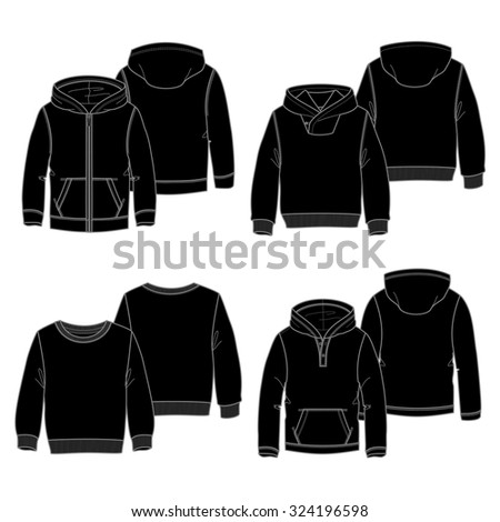 Black Hoodie Template Stock Images, Royalty-Free Images & Vectors ...