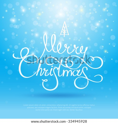 Vector illustration for your ideas. The Nativity Of Christ. Christmas eve. Christmas background. The lights, the snow. A lettering. Text composition. #3 - stock vector