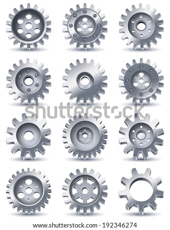 Vector illustration - gears icons - stock vector