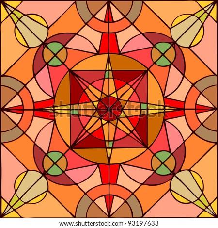 Vector illustration, geometric figure print, pattern concept - stock vector