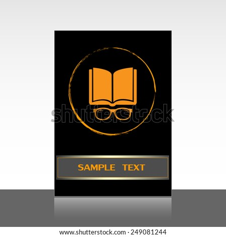 Vector illustration glasses with a bookVector illustration glass