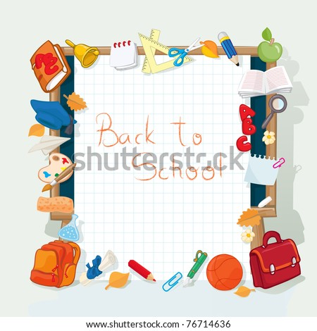 Vector illustration, going back to school banner, card concept. - stock vector