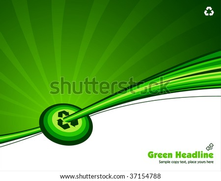 vector illustration green environmental recycle background read for you text - stock vector