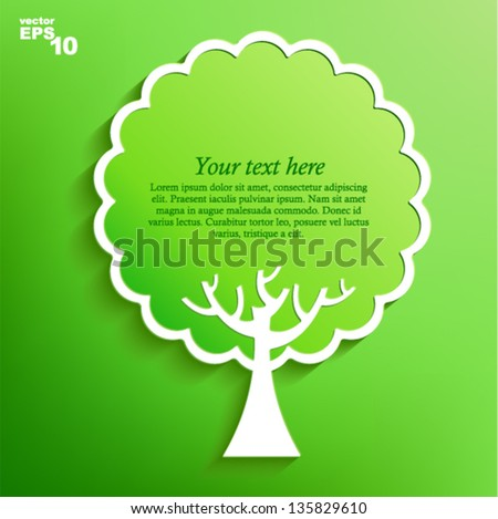 Vector illustration - green tree