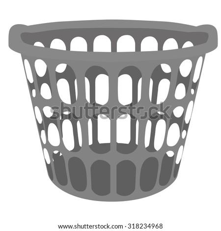 Empty Laundry Basket Clipart Clothes Basket ...