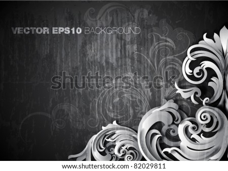 "vector illustration - grunge  ""corner"" design - stock vector"